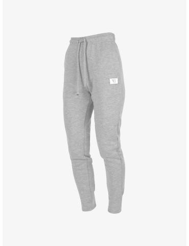 Szare dresowe spodnie z...