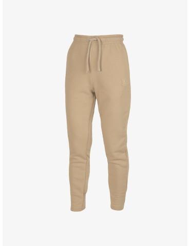 Beżowe dresowe spodnie z...