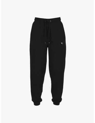 Czarne dresowe joggery z...